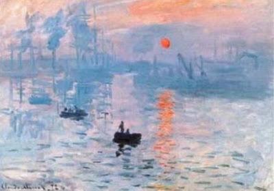 "Lukisan ""Impression-sunrise"" oleh Claude Monet"