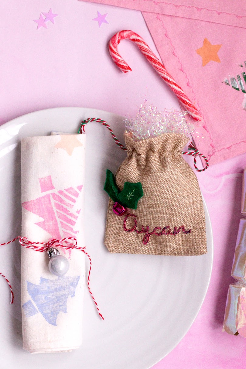 diy printed christmas napkins