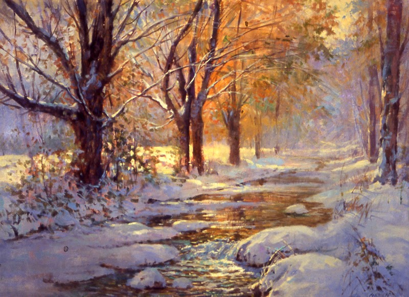 my world of watercolors and oils october snow. Black Bedroom Furniture Sets. Home Design Ideas