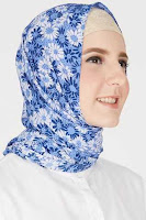 HijaBenka Nadhifah Leaf Hijab Blue Light Blue ANDHIMIND