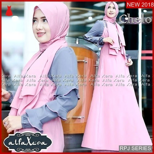 RPJ069D122 Model Dress Chelo Cantik Set Wanita