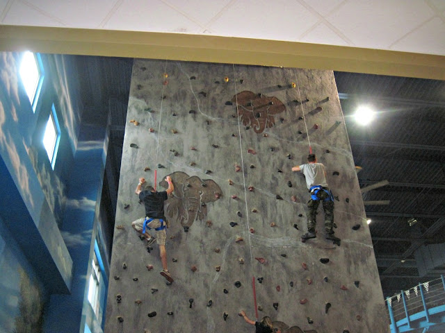 indoor theme park rock climbing wall