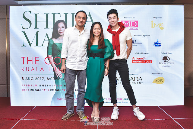 Sheila Majid's husband, Datuk Acis and Fashion Designer Michael Ong was there at the concert press conference