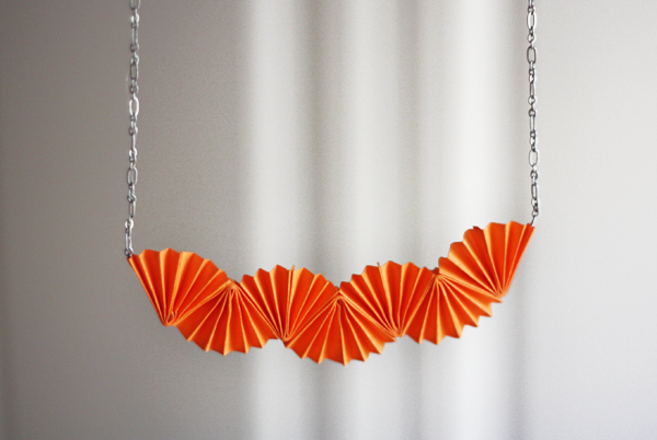 Diy Origami Style Necklace How About Orange