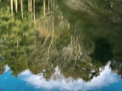 Reflection on the pond: Kencho-ji