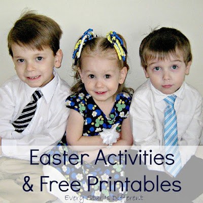 Easter learning activities and free printables