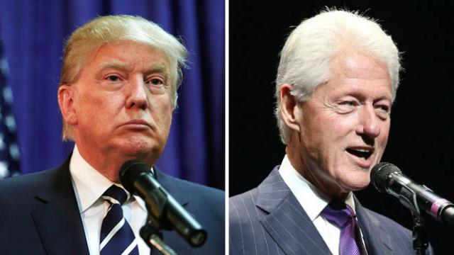 Trump slams Bill Clinton, mocks campaign strategy