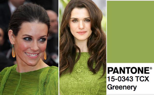 Цвет Pantone 2017 года Greenery на брюнетках с зелеными и карими глазами