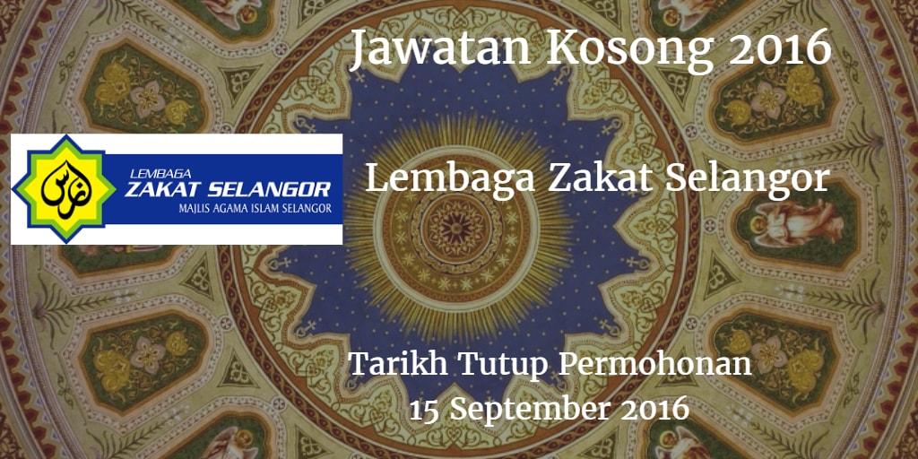 Jawatan Kosong MAIS 15 September 2016