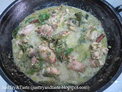 Resep Kari Ayam Hijau Ala Thai (Green Chicken Curry)