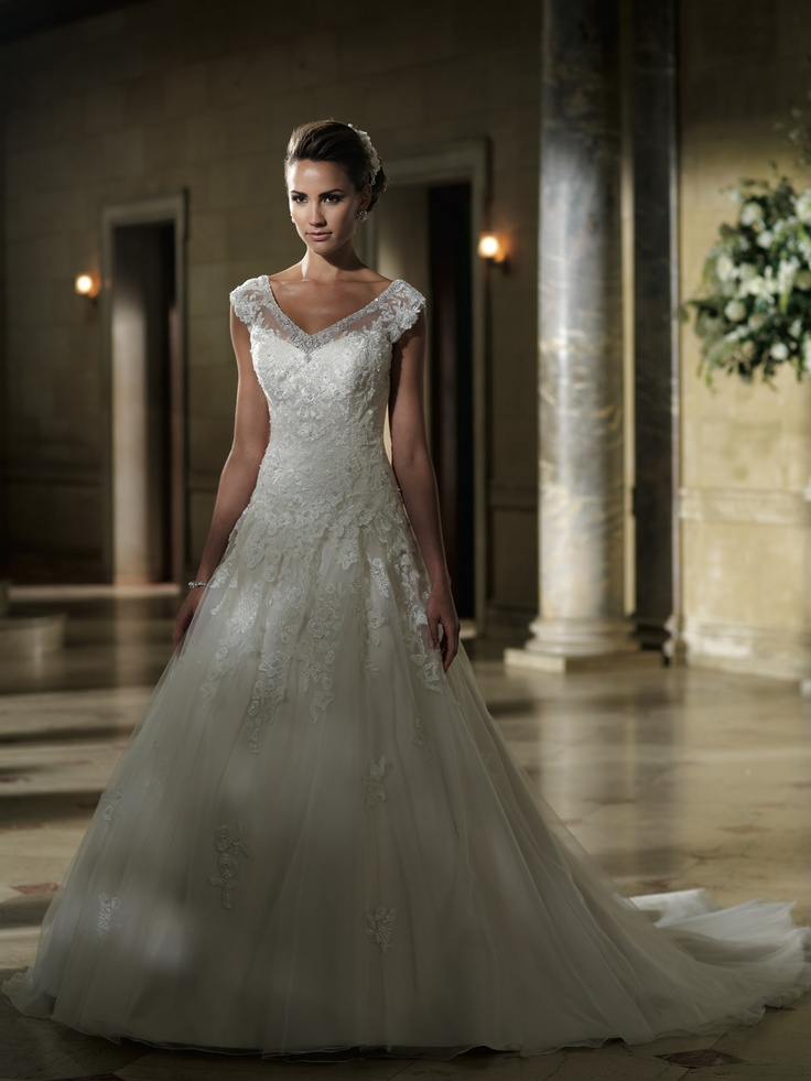 Parker Gown By David Tutera For Mon Cheri Tulle Ballgown Not Strapless Are We Sensing A Trend