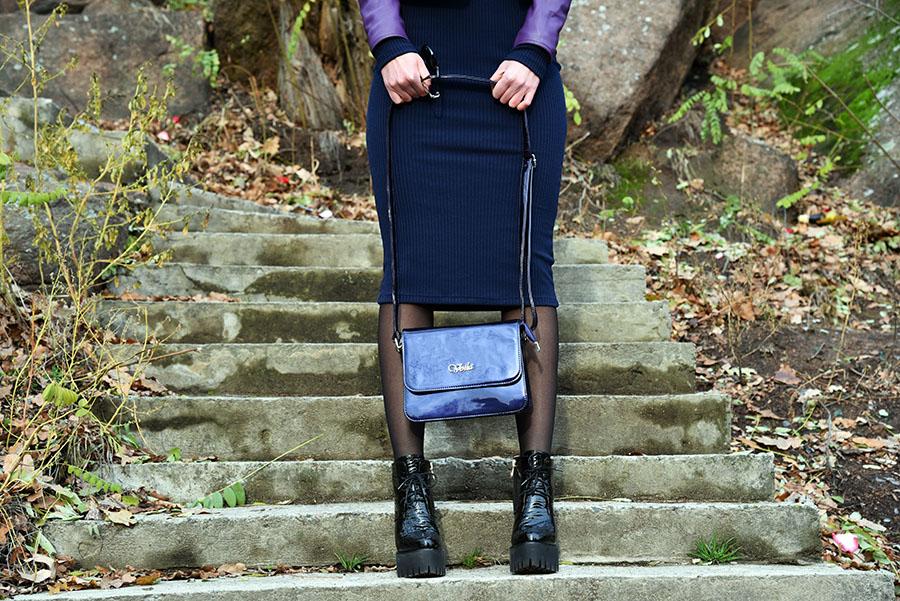 лаковая сумка, лаковые ботинки