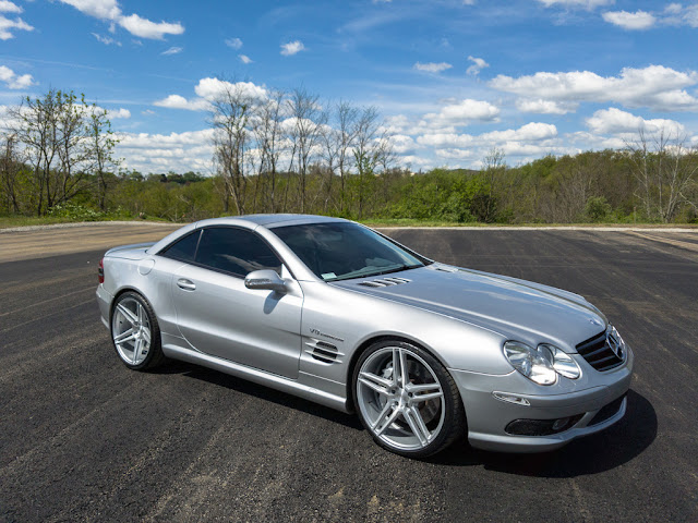 2003 mercedes benz r230 sl55 amg on r20 niche wheels benztuning. Black Bedroom Furniture Sets. Home Design Ideas