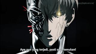 COOL Genos's face half Terminator Robot