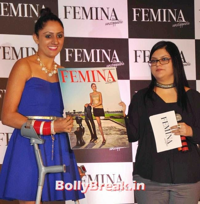 Dancer Subhreet Kaur Ghumman, Huma Qureshi Pics in Red Top, White Skirt for Femina Magazine Launch