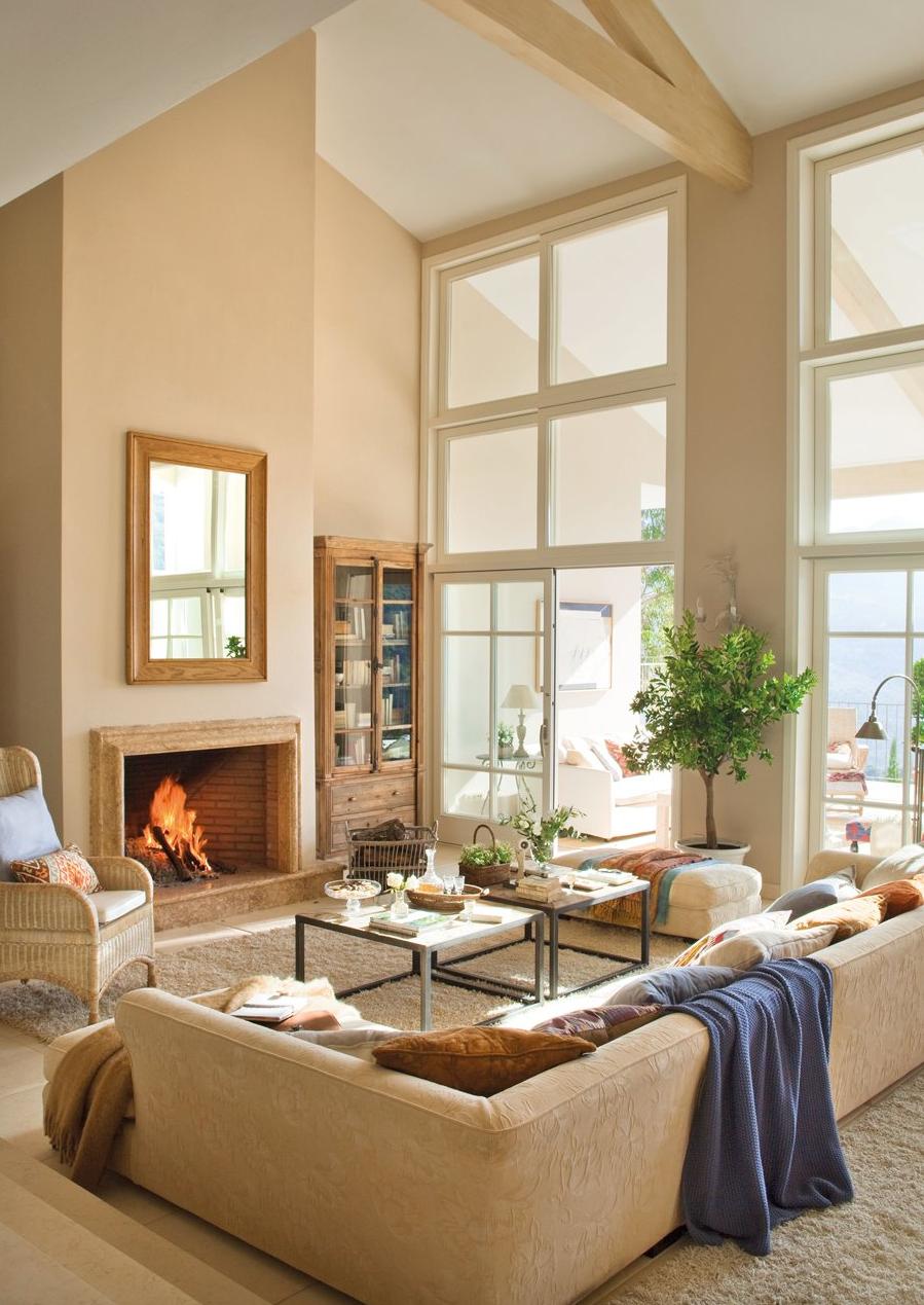 Junto al c lido fuego de una chimenea decoraci n retro - El mueble decoracion ...
