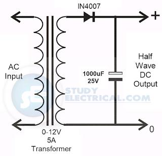 power%2Bsupply%2Bcircuit%2Busing%2Bsingle%2Bdiode