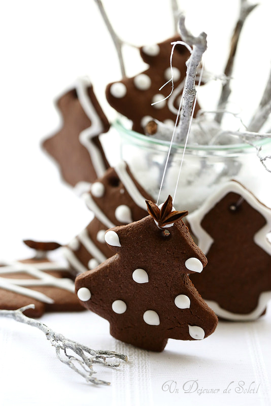 Biscuits sapin de Noël au chocolat