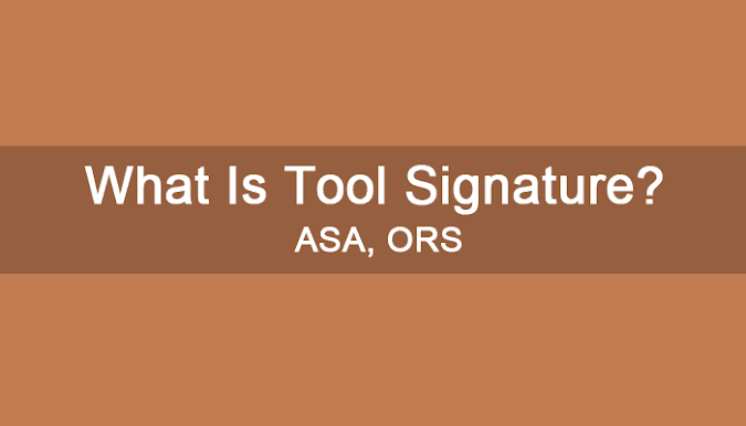 What Is Tool Signature Of Single Point Cutting Tool? ORS and ASA System