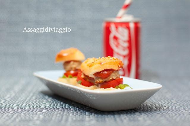 Mini hamburger di pollo di Luca Montersino