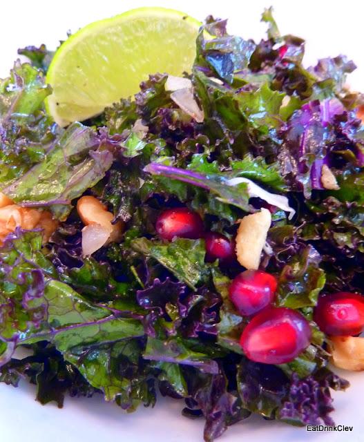 kale, salad, pomegranate, healthy recipes, whole 30
