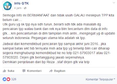 gambar informasi Tunjangan Profesi Pendidik (TPP) 2016