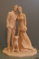 cake topper artistici artigianali realizzati a mano sposi da colorare orme magiche