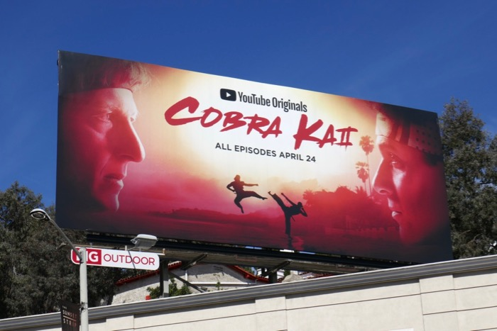 Cobra Kai season 2 billboard