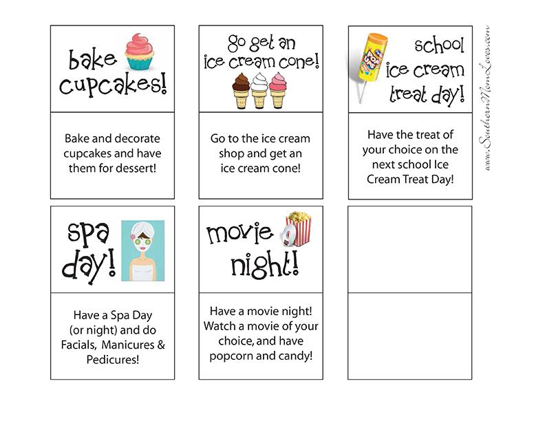 Kids Reward Cards Printable