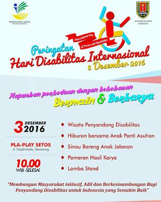 Peringatan Hari Disabilitas Internasional 2016