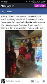 Ngeri Nih Gan...Ibu Gendong Anak Mudik Naik Motor Dari Bogor Ke Jateng...