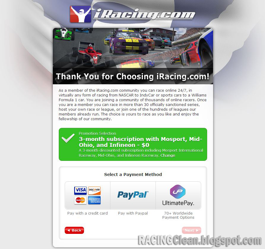 Racing Clean: iRacing FREE with 3 Extra Bonus Tracks