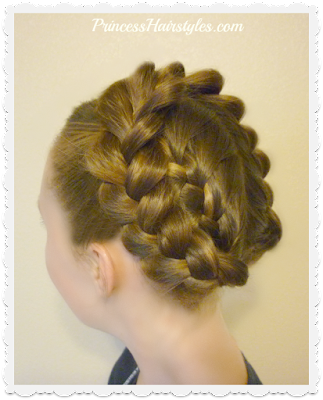 Easy halo braid or crown braid hair tutorial. Video instructions.