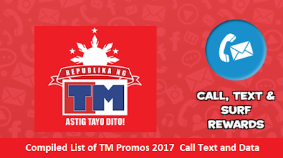 Compiled List of TM Promos 2017  Call Text and Data
