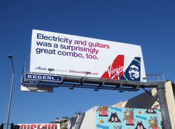 Electricity guitars Alaska Virgin America billboard