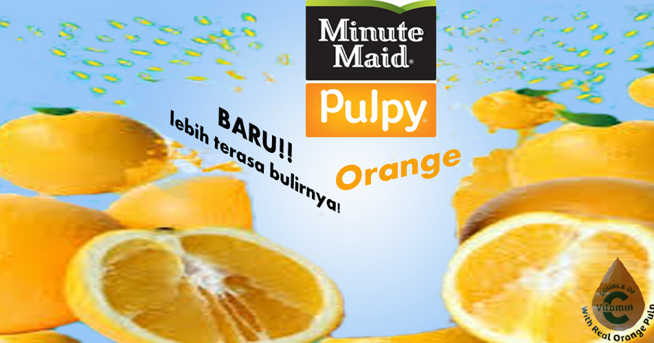 4 ps of minute maid pulpy Well, this time, i got a minute maid pulpy orange for free when i bought a tuna sandwich.
