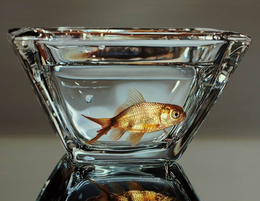 06-Goldfish-Young-sung-Kim-Realistic-Animal-Oil-Paintings-on-Canvas-www-designstack-co