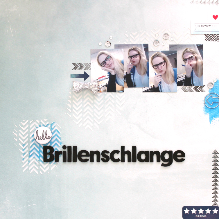 Brillenschlange | Scrapbooking Layout