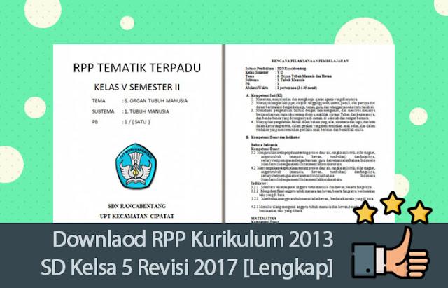 Downlaod RPP Kurikulum 2013 SD Kelsa 5 Revisi 2017 [Lengkap]