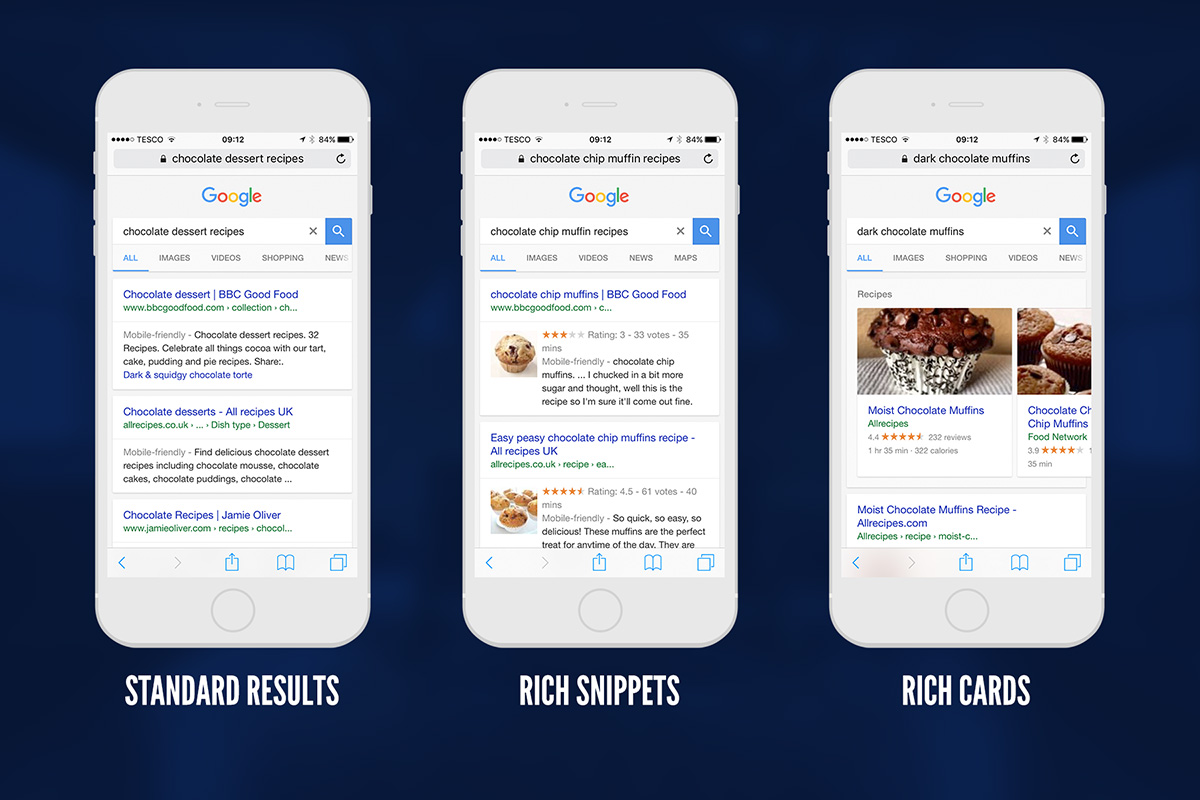 rich snippets vs rich cards
