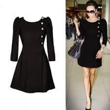 vestido con botones de Victoria Beckham