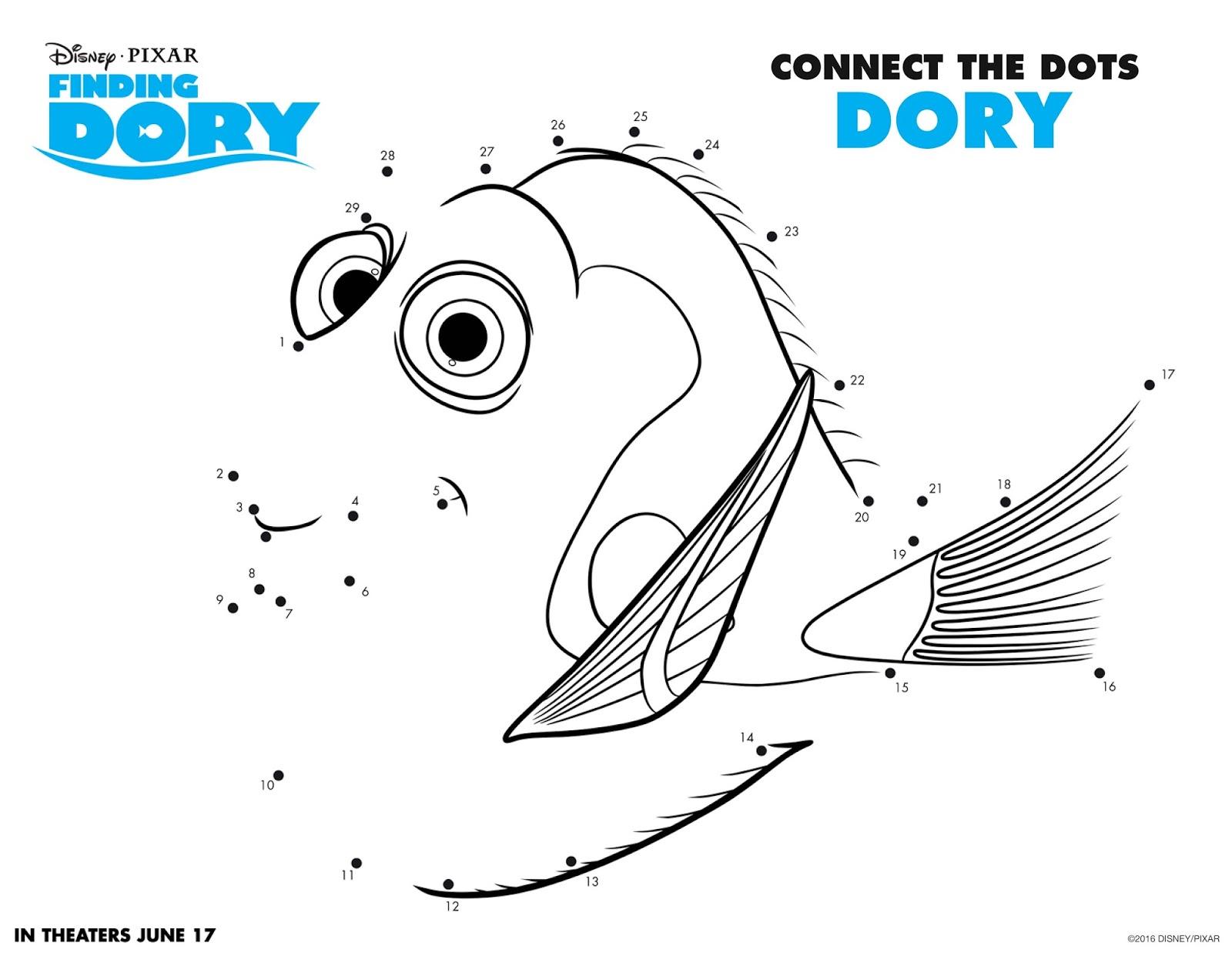 Katie S Nesting Spot Disney Pixar S Finding Dory Free Printable Activities