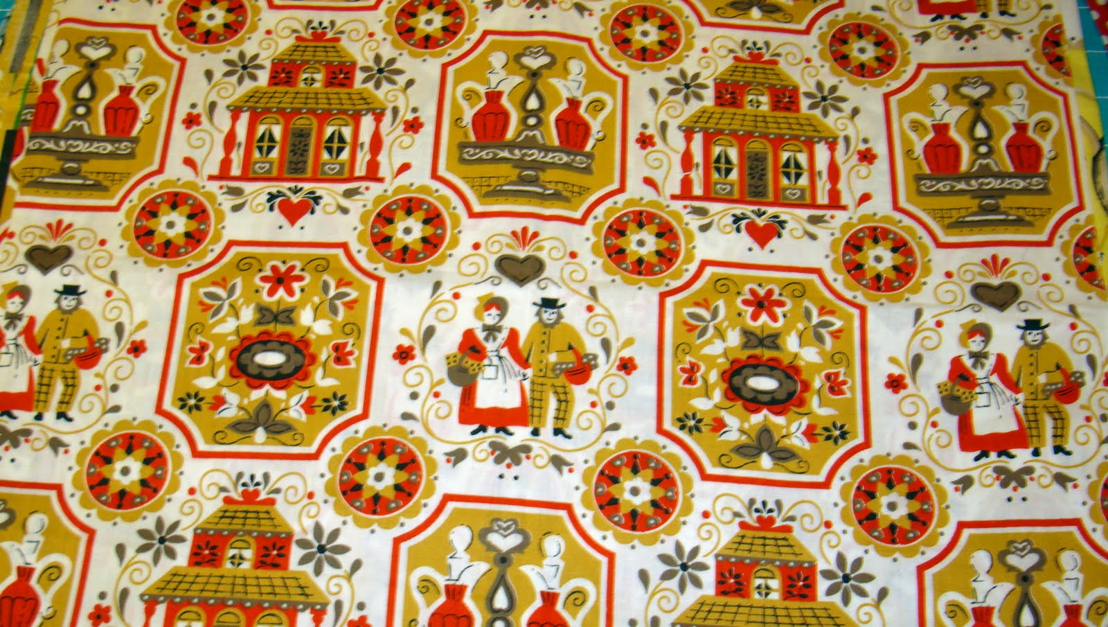 Fabric Friday - Vintage Kitchen - Freda's Hive