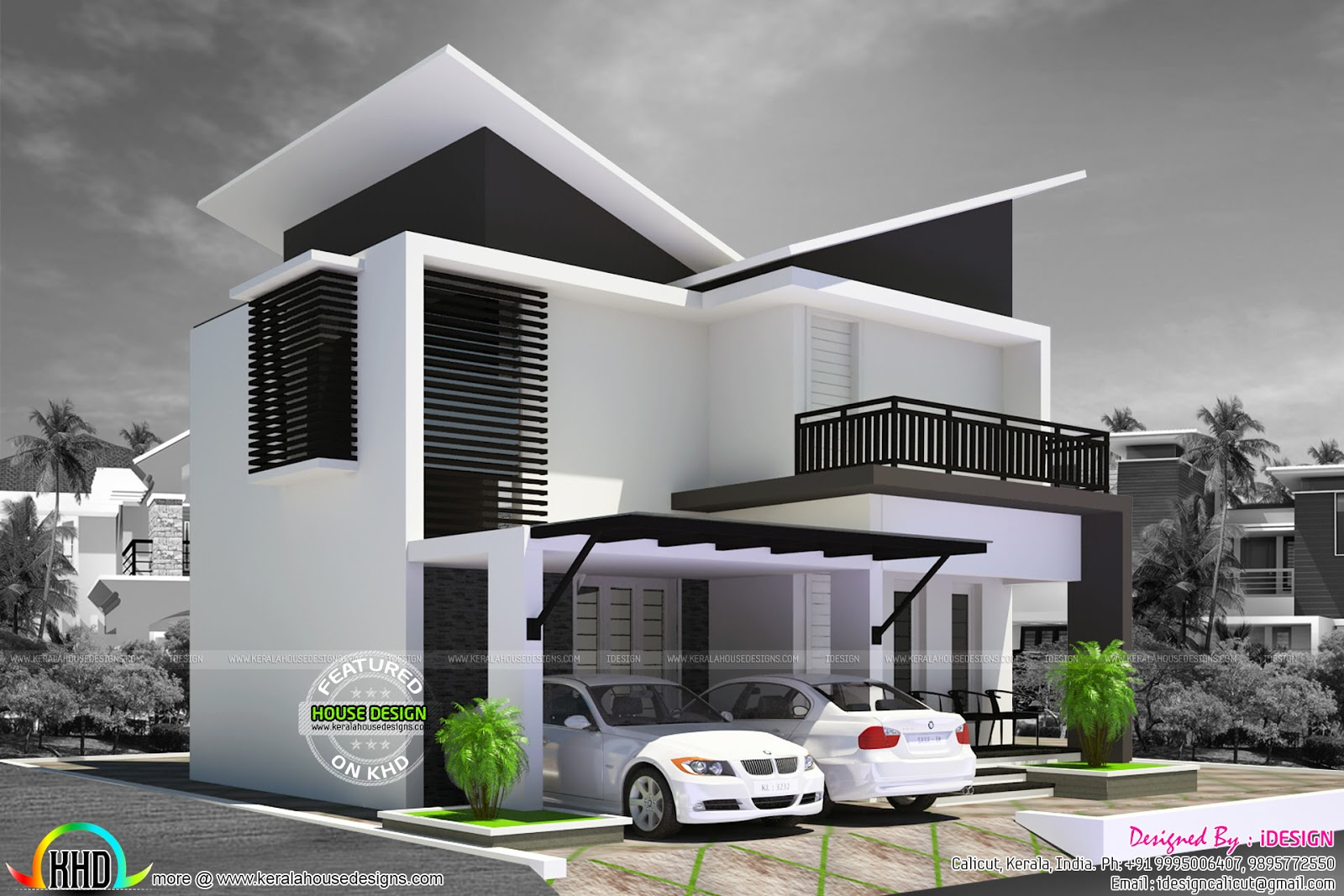 house renovation plan contemporary style kerala home design first floor 700 sq ft total area 1626 sq ft no of bedrooms 3 design style contemporray slanting roof renovation cost 10 lakh 15 000