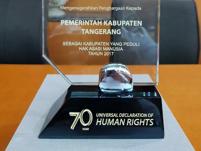 Pemkab Tangerang Raih Penghargaan  Hak Asasi Manusia