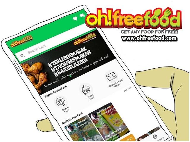 Oh Free Food - Aplikasi Mudah Untuk Memberi Sedekah Kepada Sesiapa Sahaja