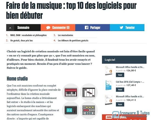 Le site du jour : comment choisir son logiciel de création musicale
