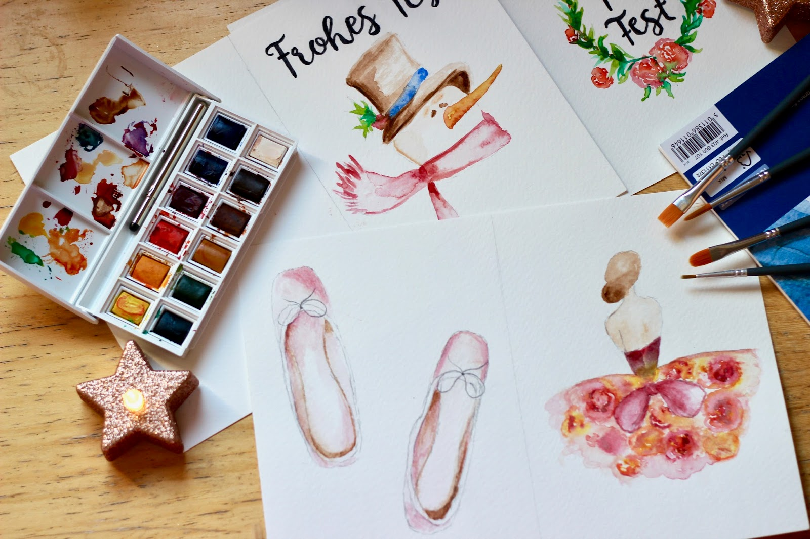 Christmas creative Watercolour art
