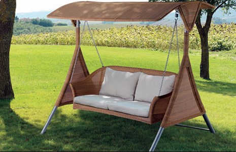Elegant Patio Swing Set With Canopy