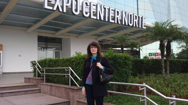 Sonia Hecher chegando no Expo Center Norte
